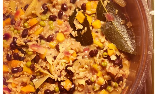 Paella vegana curcuma ed avena