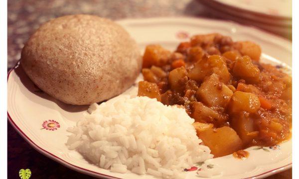 Stufato di patate e legumi