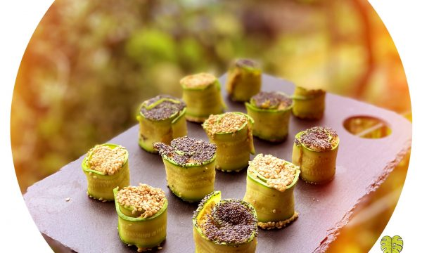Sushi vegano di zucchine e ceci