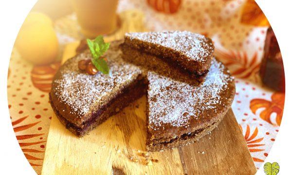 Torta di grano saraceno e mirtilli neri
