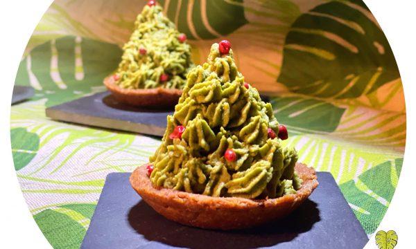 Cestini di lenticchie con alberello di spinaci