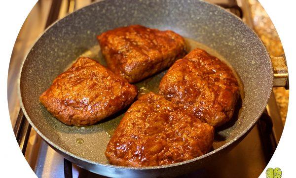 Bistecche vegane di ceci