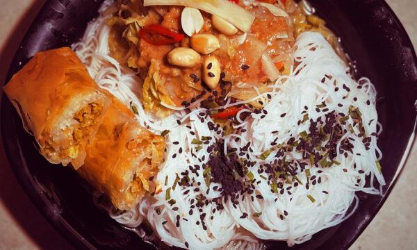 Vermicelli di riso con verdure